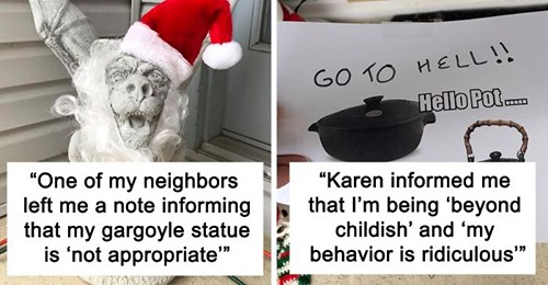 Karen trolled by a neighborhood woman who complained about her Christmas decoration