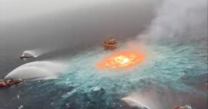 Leak in gas pipeline causes a fire in Gulf Of Mexico, authorities using hydrogen to control flames