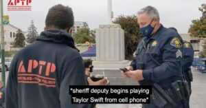Cops play Taylor Swift song on the background to stop protest video going on Youtube