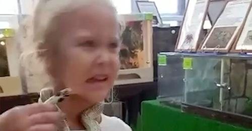 A little girl was bitten by a snake at petting zoo